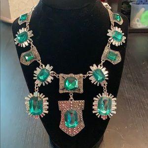 Big Emerald Crystal Necklace